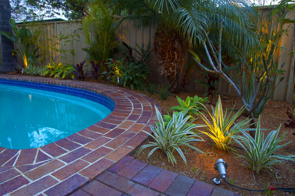 Project showing resort style garden design with swimming pool for Swimming pool surrounds design
