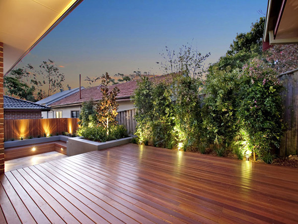 Sydney garden design project using high quality materials for Garden design decking areas